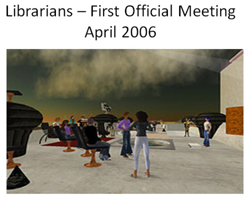 Figure 9: Librarians First Official Meeting April 2006