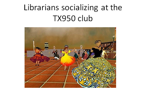 Figure 22: Librarians socializing at the TX950 Club