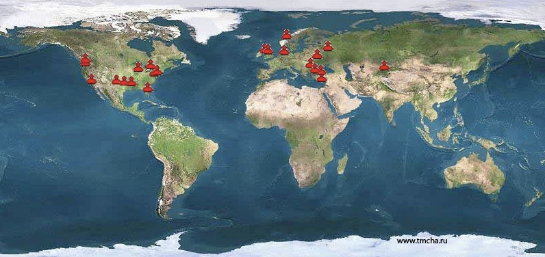 Figure 5: Representation of geographic distribution of chat and forum users