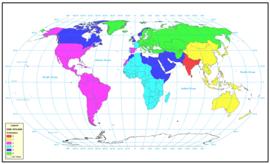Figure 16: World civilizations according to SWB 1979-2009