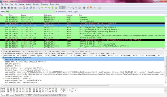 File captured by Wireshark