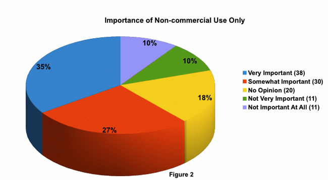 Importance of non-commercial use only