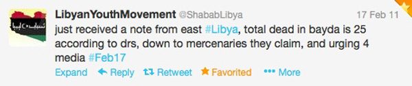 Taken from the Libyan Youth Movement Twitter Feed