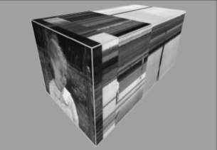 Movie-Cube visualization of a brief sequence of footage
