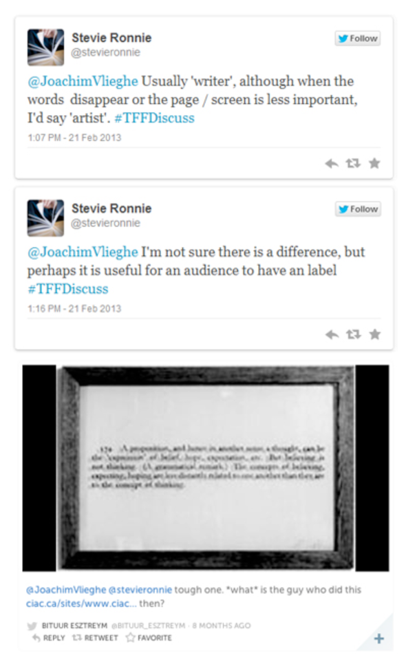 Insight offered by Stevie Ronnie about the applicability and usefulness of the label artist