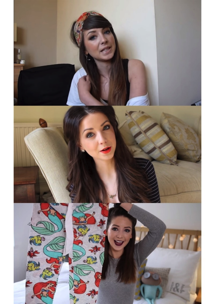 Examples of a shift in facial expressions extracted from Zoe's videos, 2011 to 2015