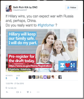Further examples of early campaign content distributed on Twitter