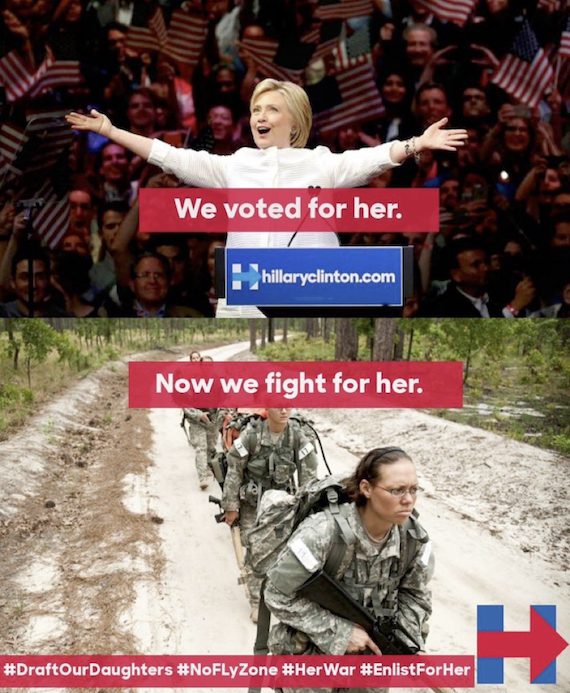 An example of campaign content