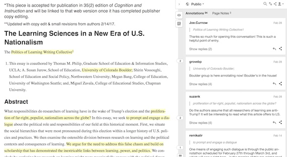 Example online text-as-context via Hypothesis OWA