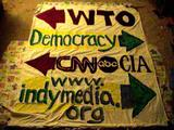 Indymedia/Corporate Media Protest Banner