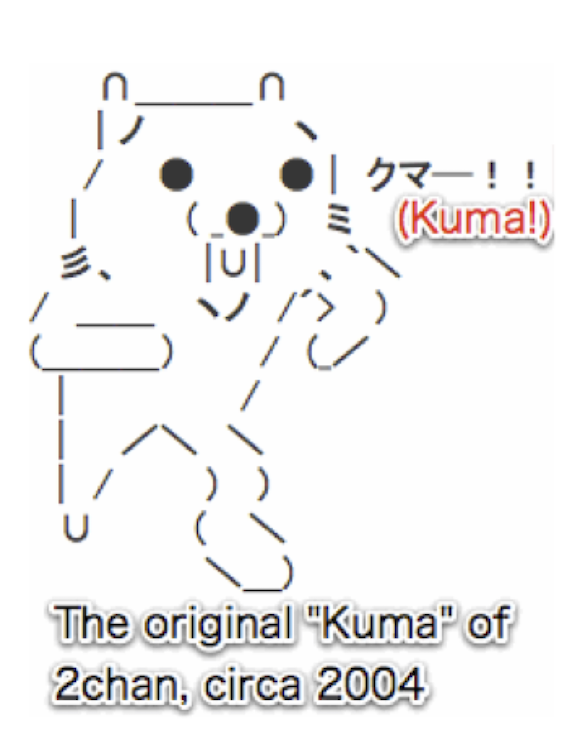 Image of the original keyboard character bear originating from Futaba Channel