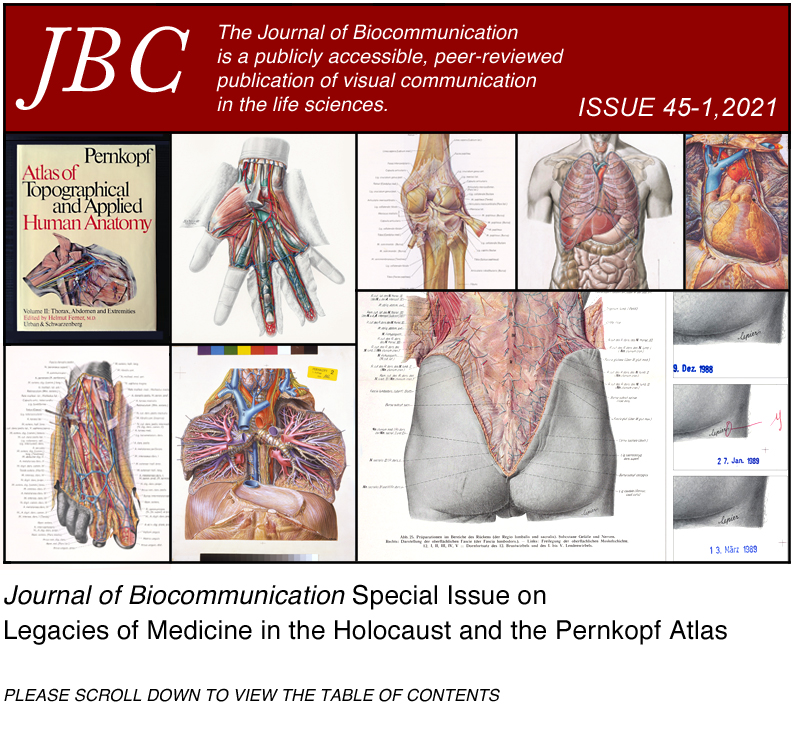 View Vol. 45 No. 1 (2021): Journal of Biocommunication Special Issue on Legacies of Medicine in the Holocaust and the Pernkopf Atlas